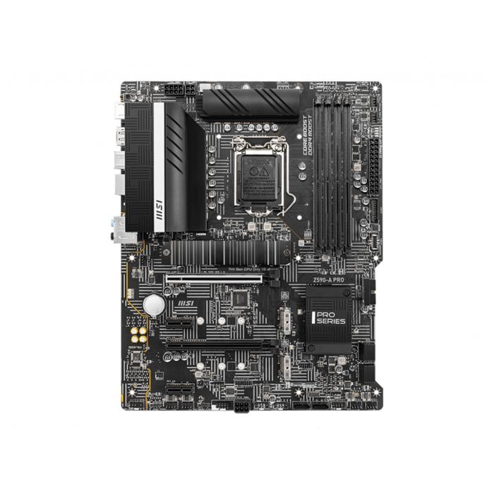 Материнская плата MSI Z590-A PRO LGA1200 iZ590 4xDDR4 6xSATA3 RAID 3xM.2 HDMI DP ATX