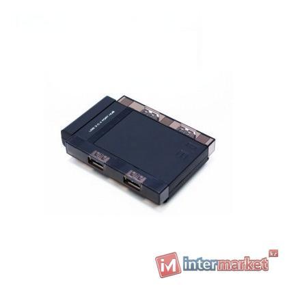 Расширитель USB, Deluxe, EV-HUB3002, Чёрный